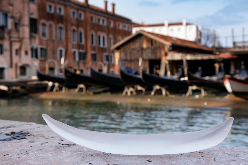 Glasgondel in Venedig von Andreas Müller