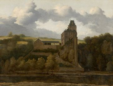 Blick auf Schloss Montjardin, Allart van Everdingen