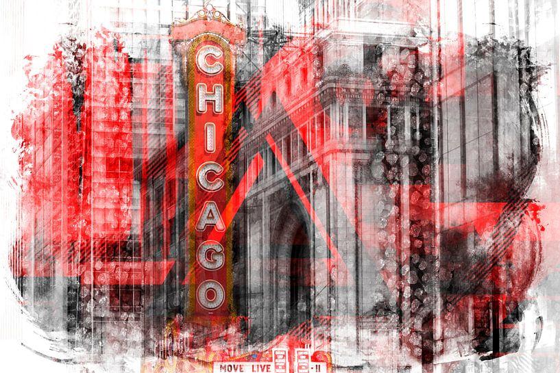 Chicago | Geometric Mix No. 4 van Melanie Viola