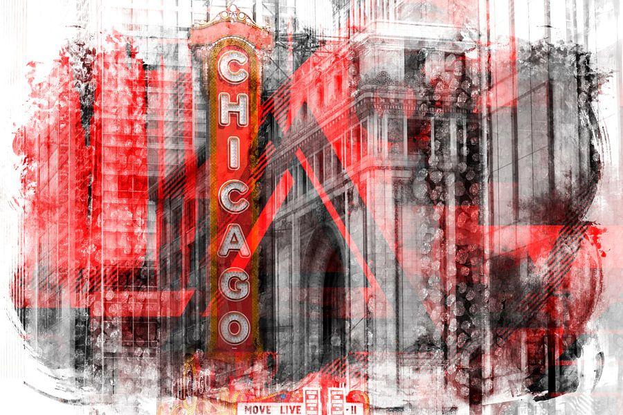Chicago | Geometric Mix No. 4 von Melanie Viola