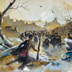 Wandschildering Madagaskar van Jeroen Kleiberg