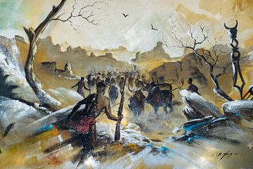 Wandmalerei Madagaskar von Jeroen Kleiberg