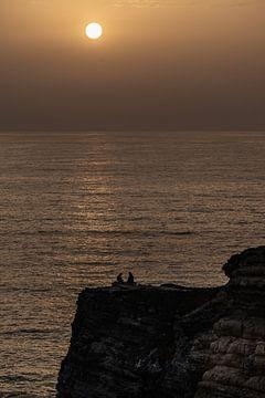 zonsondergang Portugal van Menno Holterman