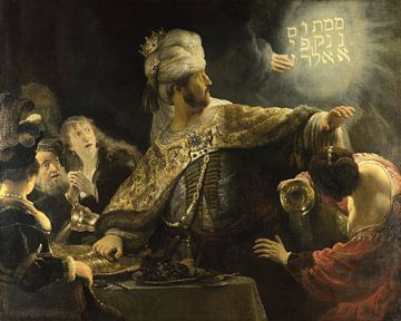 Das Fest des Belsazar, Rembrandt van Rijn - um 1636