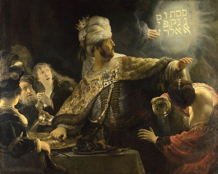 La fête de Belsazar, Rembrandt van Rijn - vers 1636 sur Het Archief