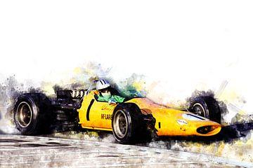 Denny Hulme, McLaren 1968 von Theodor Decker