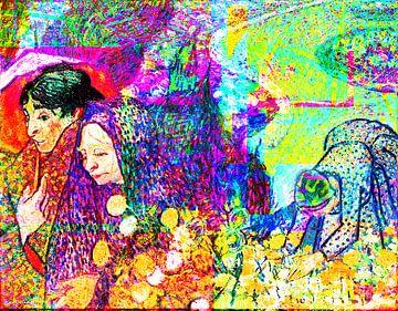 Van Gogh Mutter und Blumen von Giovani Zanolino von Giovani Zanolino