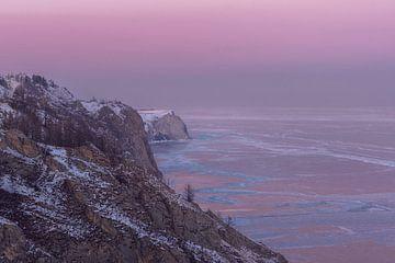 Zonsondergang Baikalmeer van Peter Poppe