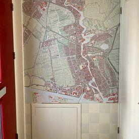 Klantfoto: Kaart vanZaanstad, als naadloos behang