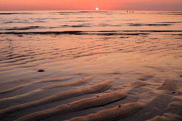 Maasvlakte Strand bei Sonnenuntergang von Thomas Hofman
