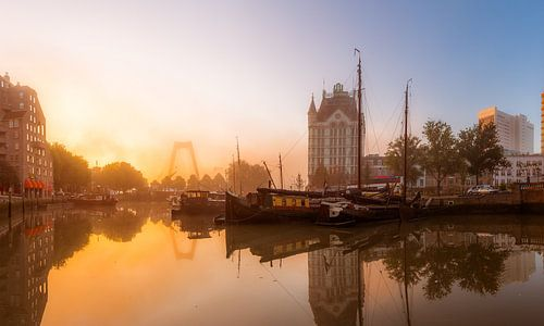 Oude Haven met zonsopkomst (panorama)