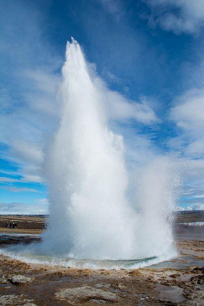 Actieve geiser in IJsland van Lifelicious