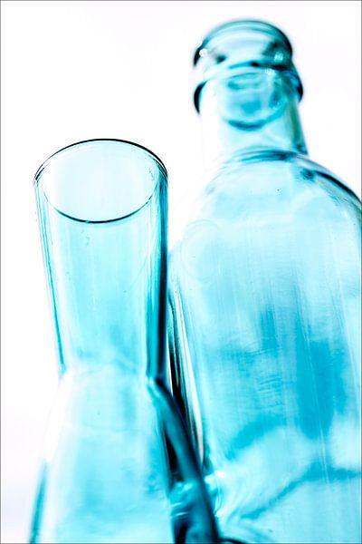 Blauwe flesjes
