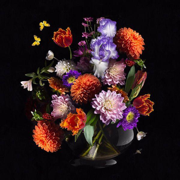 Nature morte de la fleur royale néerlandaise sur Sander Van Laar