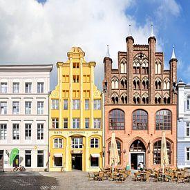 Stralsund | Alter Markt en Mühlenstrasse van Panorama Streetline