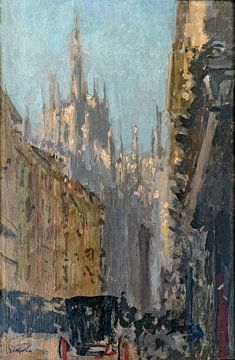 Kathedraal van Milaan, Walter Sickert - 1895 van Atelier Liesjes
