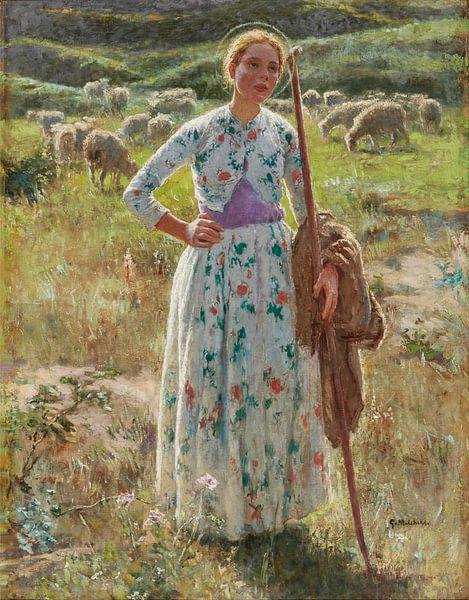 Melchers, Gari-Amerikaner 1860-1932~Jeanne d'Arc. von finemasterpiece