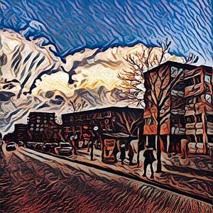 Digital Painted Diemen (2020-3) van OFOTO RAY van Schaffelaar