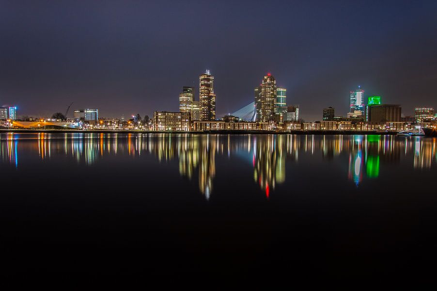 Maashaven, Rotterdam bij nacht