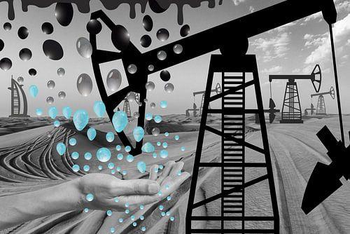 Dubai oil into water