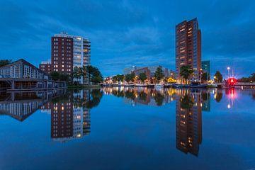 Groningen Zuiderhaven @ blue hour van Koos de Wit