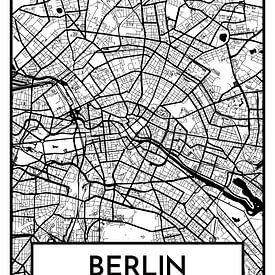 Berlin – City Map Design Stadtplan Karte (Retro) von ViaMapia