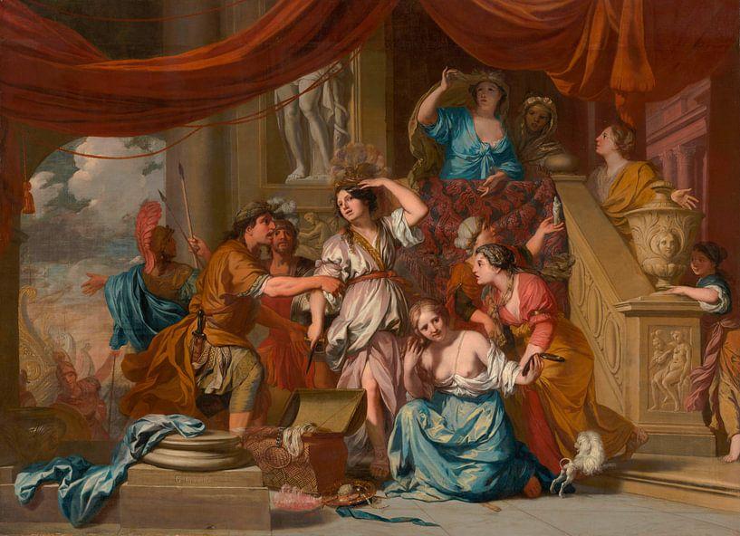 Achilles unter den Töchtern des Lycomedes entdeckt, Gerard de Lairesse von Meesterlijcke Meesters