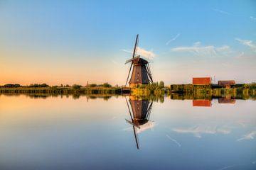 Kinderdijk reflectie von Dennis van de Water