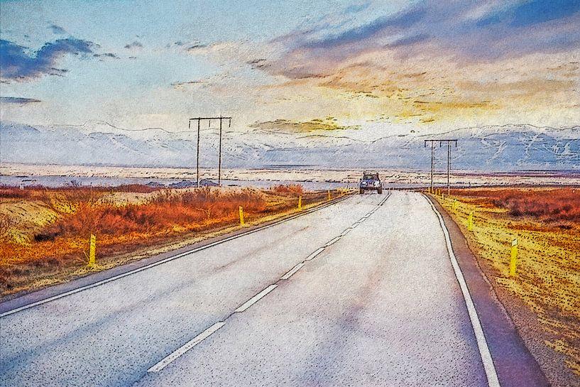 Ringweg IJsland van Frans Blok
