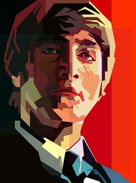John Lennon Portret Illustratie van Fariza Abdurrazaq