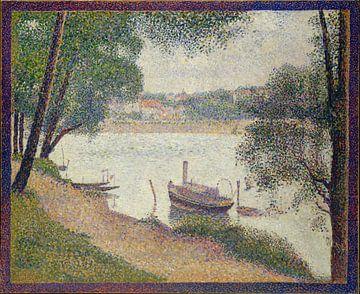 Grauw weer, Grande Jatte van Georges Seurat van