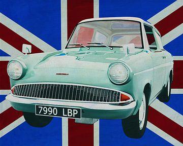 Ford Anglia voor de Union Jack