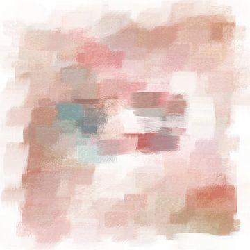 Abstract in rood en blauw van Maurice Dawson