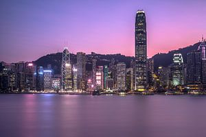 Zonsondergang in Hong Kong