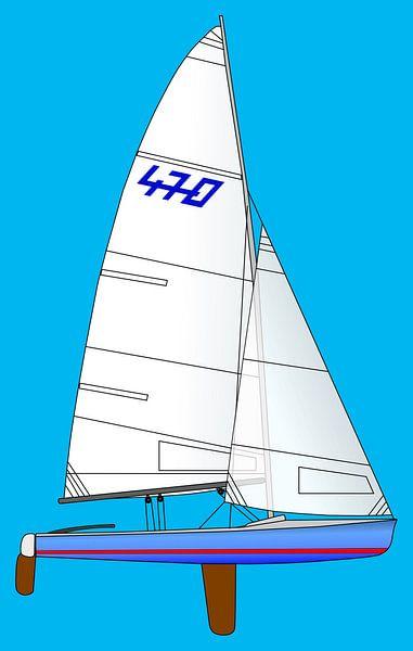 470 Olympisch Zeilen van Jan Brons