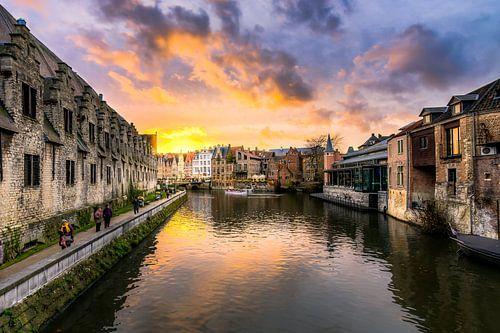 zonsondergang Gent België