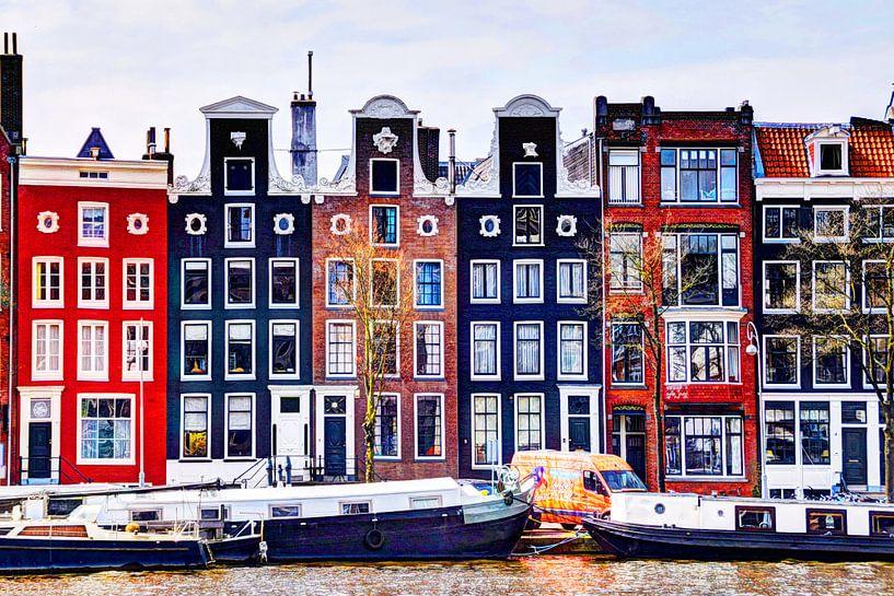 Huizen aan de Amstel Amsterdam van Hendrik-Jan Kornelis