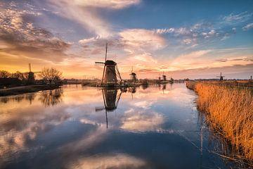 Kinderdijk Mühlen von Sander Poppe