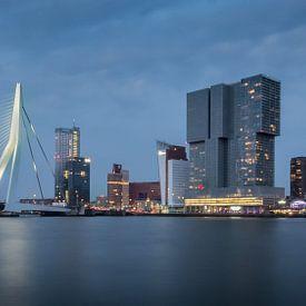Stadsgezicht Erasmusbrug Rotterdam van Samantha Schoenmakers