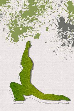 Yoga, die Haltung des Kriegers von Adriana Zoon