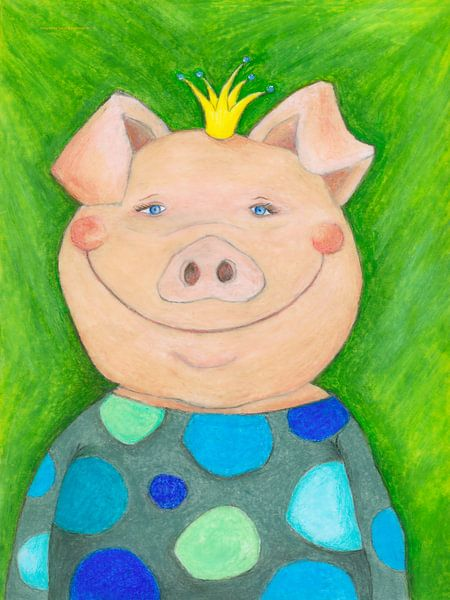 Oskar das Glücksschwein van Atelier BuntePunkt