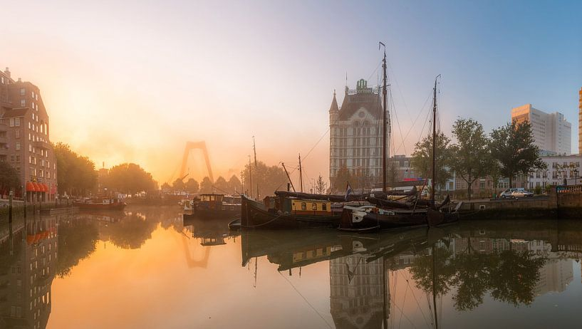Oude Haven met zonsopkomst (panorama) van Prachtig Rotterdam