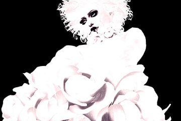 Mademoiselle en noir et blanc sur Natasja Tollenaar