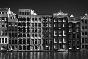 Huizen in Amsterdam / zwart  wit