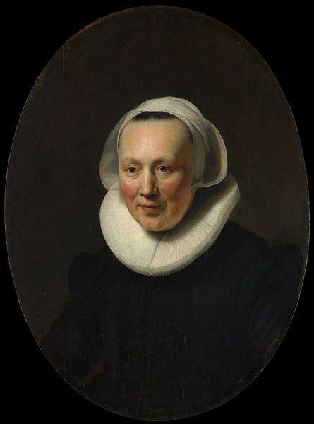 Porträt einer Frau, Rembrandt von Rembrandt van Rijn