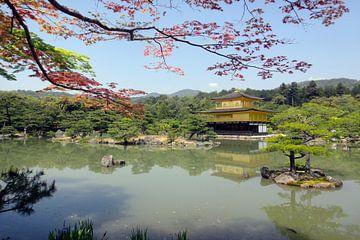 gouden tempel kyoto Japan von Mooi-foto van Well