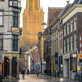 A-kerk ( Akerk ) gezien vanaf de A-brug/Brugstraat van Hessel de Jong