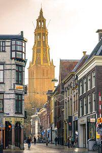 A-Kirche von der A-Brücke/Brugstraat aus gesehen von Hessel de Jong