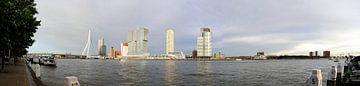 Panorama van de Kop van Zuid in Rotterdam van Wim Stolwerk