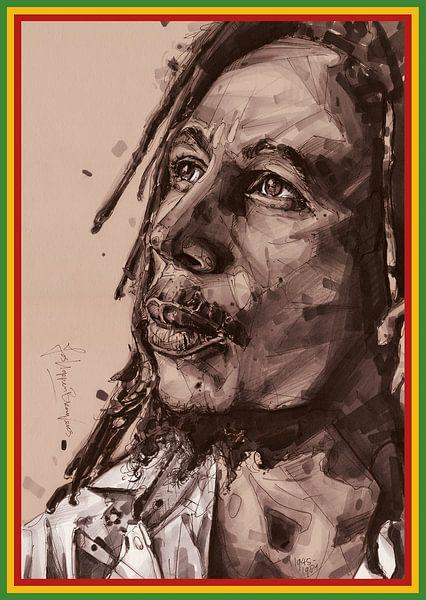 Bob-Marley-Gemälde von Jos Hoppenbrouwers